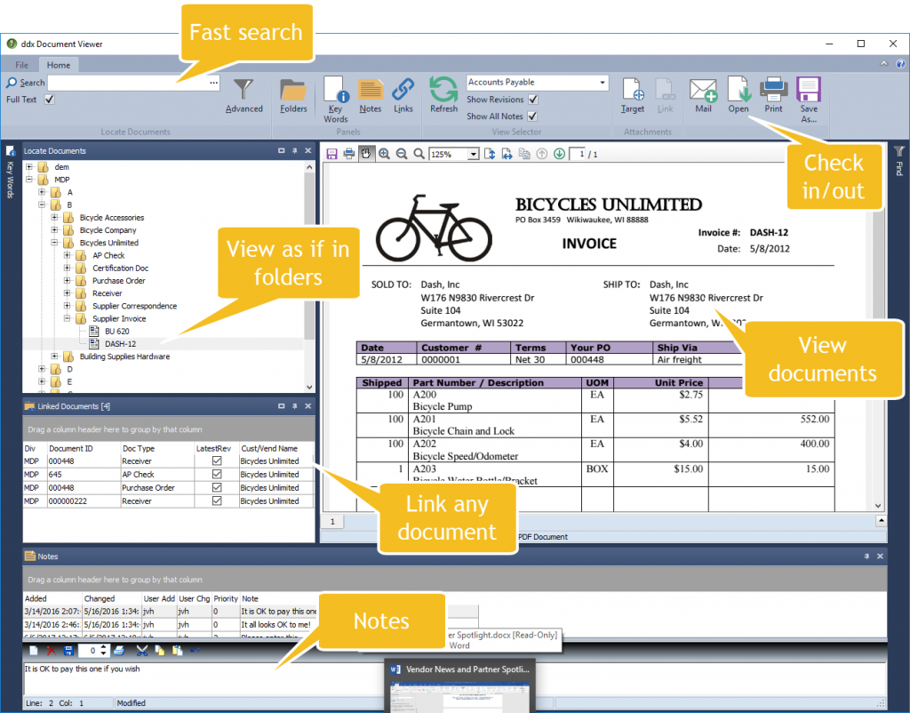 Dash DDX Document Viewer