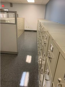 Empty file cabinets